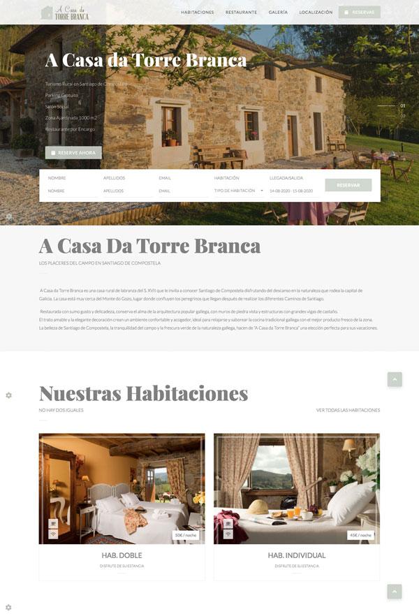 Web A Casa da Torre Branca : 2