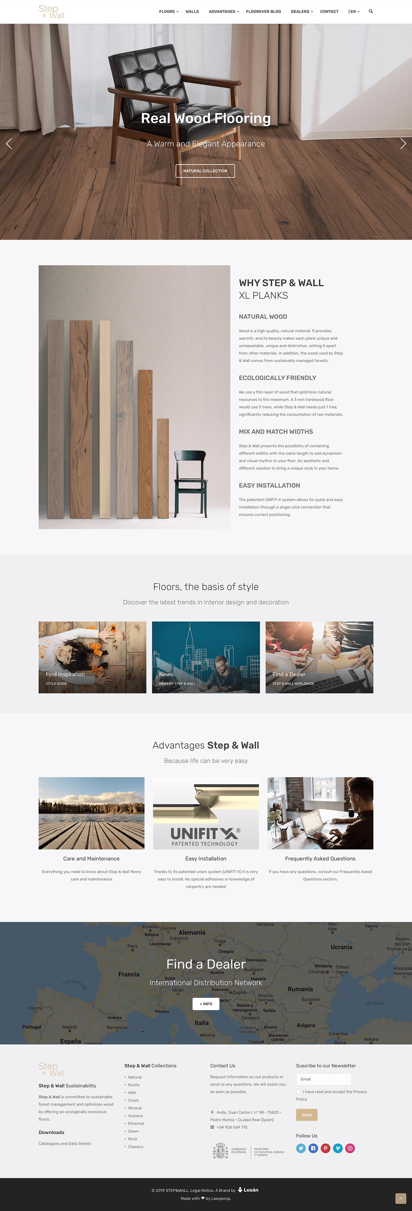 Step&Wall Corporate website : 1
