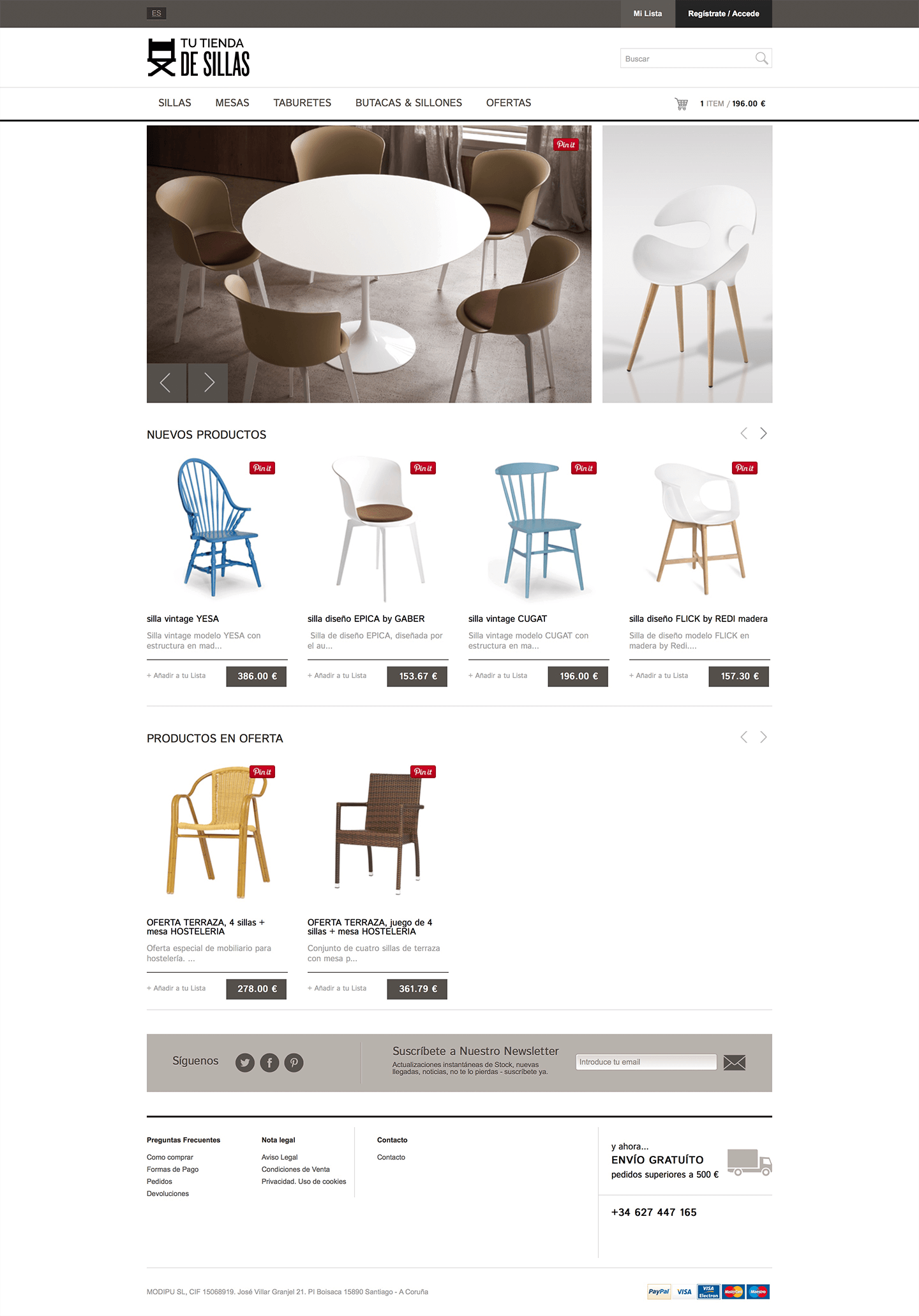 Tu tienda de sillas shop online : 1