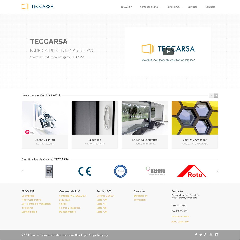 TECCARSA corporate website : 1